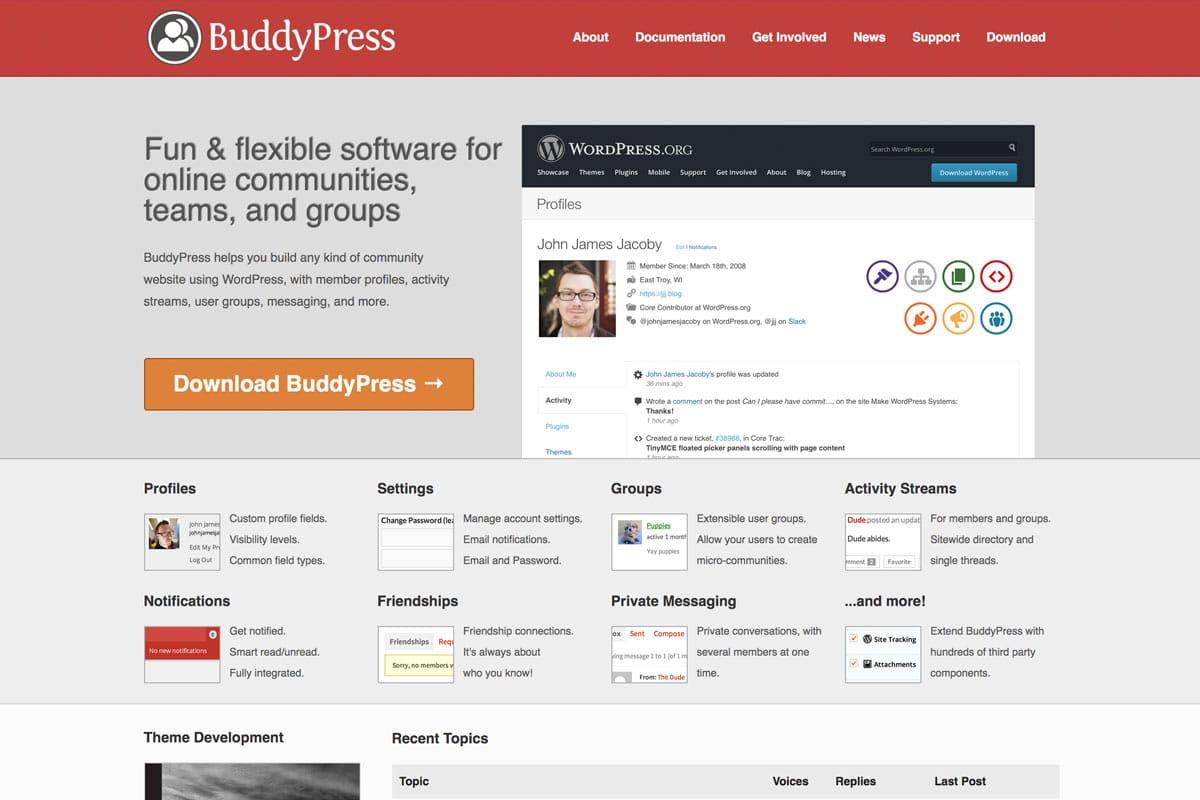 Facebook Alternative - BuddyPress